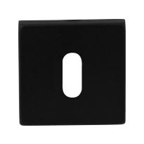 Keyhole escutcheon GPF8901.02 50x50x8mm black