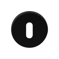 Keyhole escutcheon GPF8901.05 50x6mm black
