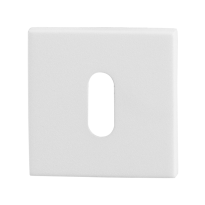 Keyhole escutcheon GPF8901.42 50x50x8mm white