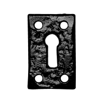 Keyhole escutcheon KP1502 46x30mm wrought iron black