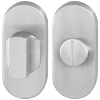 Turn and Release set GPF0910.04 70x32mm spindle 8mm satin stainless steel large knob