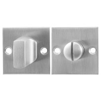 Turn and Release set GPF0911.08 50x50x2mm spindle 5mm satin stainless steel large knob