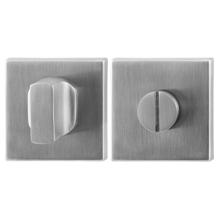 Turn and Release set GPF0911.02 50x50x8mm spindle 5mm satin stainless steel large knob