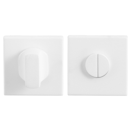 Turn and Release set GPF8911.42 50x50x8mm spindle 5mm white large knob
